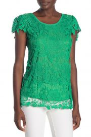 Floral Crochet Lace Knit Short Sleeve Blouse at Nordstrom Rack