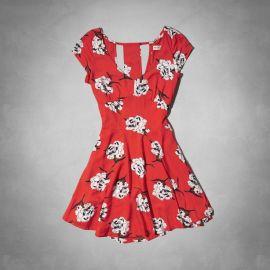Floral Cutout Dress at Abercrombie