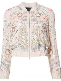Floral Embellished Bomber Jacket by Needle and Thread at Farfetch