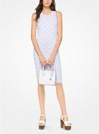 Floral Embellished Stretch-Viscose Dress at Michael Kors