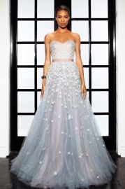 Floral Embroidered Ball Gown at Lorena Sarbu