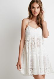 Floral-Embroidered Mesh Dress  Forever 21 - 2000076833 at Forever 21