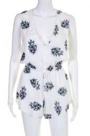 Floral Embroidered Romper by Blue Life at Revolve