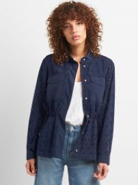Floral Eyelet Utility Jacket at Gap
