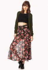 Floral Fantasy Midi Skirt at Forever 21