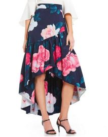 Floral Faux Wrap Hi-low Skirt by Eliza J at Nordstrom