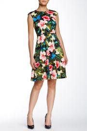 Floral Fit andamp Flare Dress at Nordstrom Rack