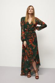 Floral Fixed Wrap Dress by Long Tall Sally at Long Tall Sally