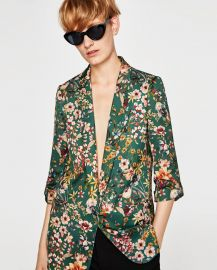 Floral Flowing Blazer at Zara