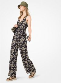Floral Georgette Jumpsuit at Michael Kors