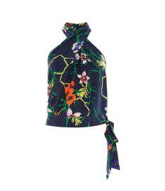 Floral Halterneck Top at Karen Millen