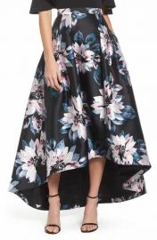 Floral High Low Skirt at Nordstrom