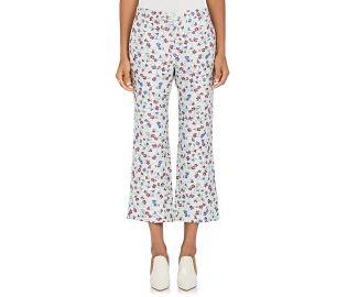 Floral-Jacquard Flared Crop Pants by Altuzarra at Barneys Warehouse