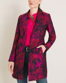Floral Jacquard Topper at Chicos