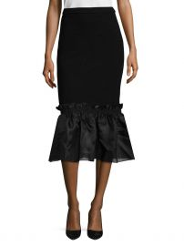 Floral Jersey Ruffle Skirt by Opening Ceremony at Gilt