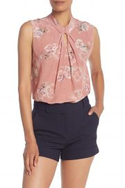 Floral Keyhole Silk Tank Top by Rebecca Taylor at Nordstrom Rack