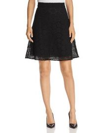 Floral-Lace A-Line Skirt at Bloomingdales