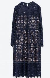 Floral Lace Midi Dress by Self Portrait at Self Portrait