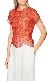 Floral Lace Top at Barneys