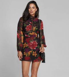Floral Lace-Trim Dress by Marciano at Guess by Marciano