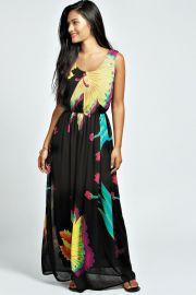 Floral Maxi Dress at Boohoo
