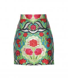 Floral Metallic Skirt by Gucci at Farfetch