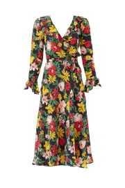 Floral Midi Wrap Dress at Rent the Runway