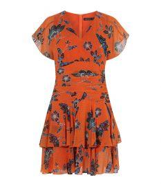 Floral Mini Dress at Karen Millen