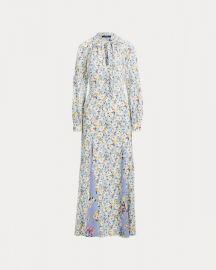 Floral Necktie Silk Maxidress by Ralph Lauren at Ralph Lauren