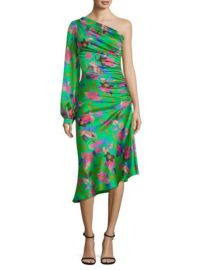 Floral One-Sleeve Ruched Dress  Etro at Saks Fifth Avenue