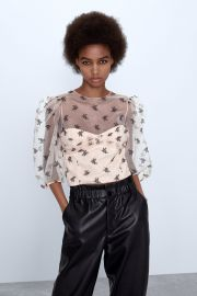 Floral Organza Top by Zara at Zara