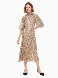 Floral Park Clip Dot Midi Dress at Kate Spade