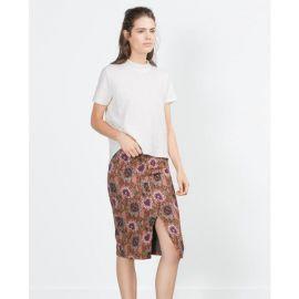 Floral Pencil Skirt at Zara
