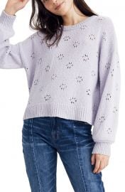 Floral Pointelle Pullover Sweater at Nordstrom