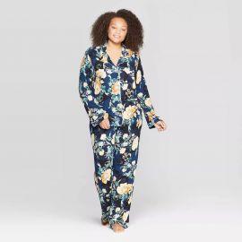 Floral Print Beautifully Soft Notch Collar Pajama Set at Target