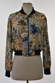 Floral Print Bomber Jacket at Zara