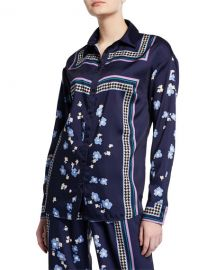 Floral-Print Button-Front Shirt by Lela Rose at Bergdorf Goodman