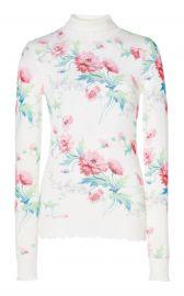 Floral-Print Cashmere Turtleneck Sweater at Moda Operandi