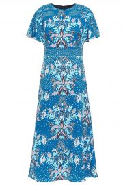 Floral-Print Cloque Midi Dress by Peter Pilotto at The Outnet