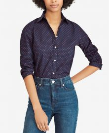 Floral-Print Cotton Shirt at Macys