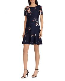 Floral-Print Crepe Dress Lauren Ralph Lauren at Bloomingdales
