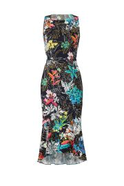 Floral-Print Crepe Dress by Peter Pilotto at Rent The Runway