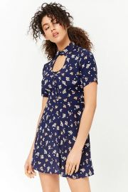 Floral Print Cutout Dress at Forever 21