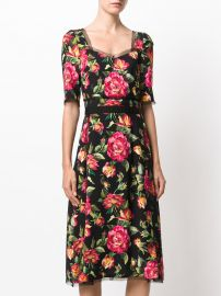Floral Print Dress by Dolce & Gabbana at Farfetch