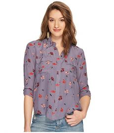 Floral-Print Flap-Pocket Shirt at Zappos