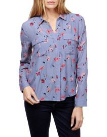 Floral-Print Flap-Pocket Shirt at Lord & Taylor