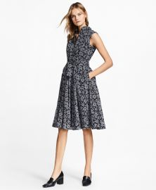 Floral-Print Glen Plaid Dress by Brooks Brothers at Brooks Brothers