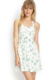 Floral Print Halter Dress at Forever 21