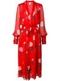 Floral Print Maxi Dress by Oscar de la Renta at Farfetch