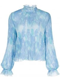 Floral Print Pleated Blouse at Farfetch